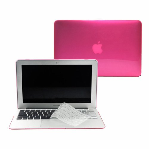 TopCase 2 in 1 Crystal See Thru Hard Case Cover And Transparent TPU Keyboard Cover for Macbook Air 11