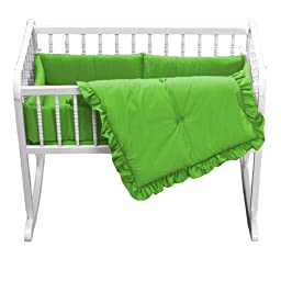 bkb Primary Colors Cradle Bedding, Green, 15\