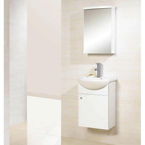 Dreamline Dlvrb 101 Wh 17 Inch Wall Mounted Modern Bathroom Vanity - Contemporary-bathroom-vanities-from-dreamline
