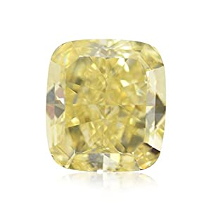 2.42Cts Fancy Yellow Loose Diamond Natural Color Cushion Cut GIA Certificate