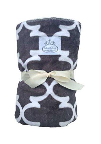LUXE BABY Stroller Baby Blanket, Modern Grey