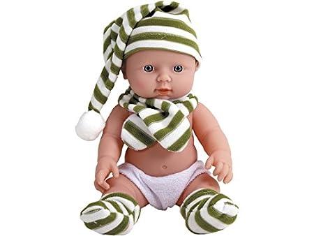 Bébé 30 cm Vinyle avec écharpe et bonnet
