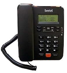 Beetel M57 CLI Corded Phone (Black)