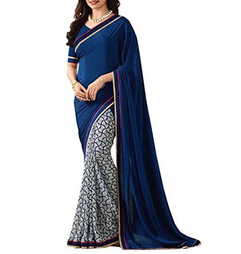 Lajree Designer Women's Chiffon Saree With Blouse Piece(prachi-1007_649) …