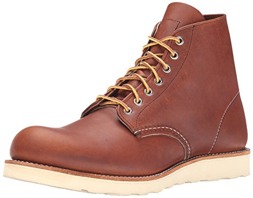 Men's Red Wing Round Toe Boot, Size 7 D - Brown