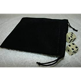 Large Velvet Black Pouch With Drawstrings