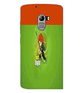 PrintDhaba Girl Image D-2999 Back Case Cover for LENOVO K4 NOTE A7010 (Multi-Coloured)