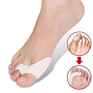 DUORUI 2 Pairs Silicone Toe Separators and 2-Loop Toe Straighteners - Bunion Pad, Overlapping Toes Corrector,Guard Feet Care
