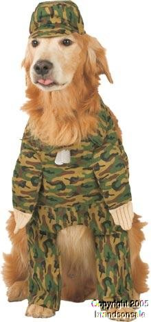 Pet Army Dog Halloween Costume For Large Dogs