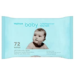 Parfumée Lingettes pour bébés Waitrose 72 par paquet