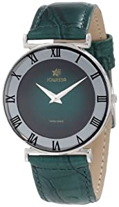 Jowissa Women's J2.022.L Roma 36 mm Green Dial Leather Roman Numeral Watch