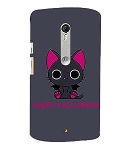 Kitty Happy Halloween 3D Hard Polycarbonate Designer Back Case Cover for Motoroal Moto X Style