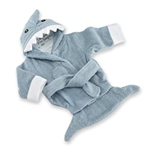 Baby Aspen Let The Fin Begin Terry Shark Robe, Blue, 0-9 Months by Baby Aspen