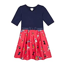 Bluezoo Kids Girl's Pink 2-In-1 Dog Print Dress by bluezoo