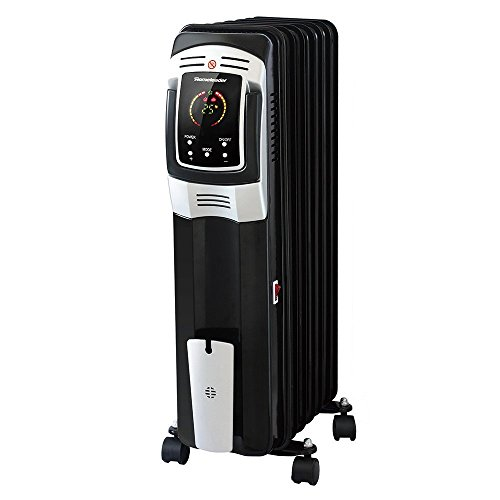 SWM Homeleader 1500W Electric Oil Filled Radiator Heater with LED Touch Screen, Timer and Remote Control, Black electric radiators oil space heater (Black) (Cast Iron Steam Radiator compare prices)