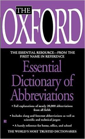 The Oxford Essential Dictionary of Abbreviations price comparison at Flipkart, Amazon, Crossword, Uread, Bookadda, Landmark, Homeshop18