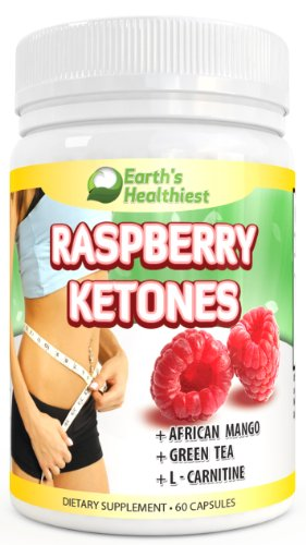 #1 Raspberry Ketones, From Earth'S Healthiest. 500 Mg Per Serving, 60 Vegetarian Capsules. 100% Pure All Natural Lean Weight Loss Appetite Suppressant Supplement For Men And Women. +African Mango +Green Tea & L-Carnitine