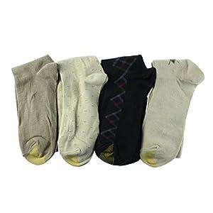 Gold Toe Mens 4PK Crew Dress Socks