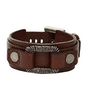 Fossil Jewelry Herren-Armband Leder braun JA5750716