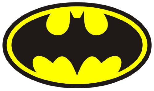 "12"" Batman classic logo Wall Graphic Decal Game Room Decor Sticker Window Art Cling NEW !!"