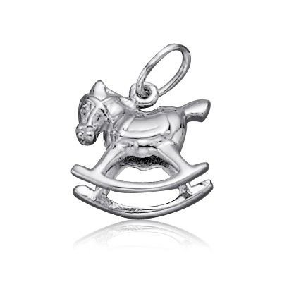 Sterling Silver Toy Rocking Horse Charm