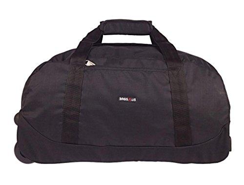 BagsRUs Amaze Duffel Trolley Bag (Black, CA109FBL)