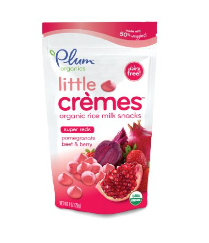 Plum Organics Baby Little Cremes Organic Rice Milk Snacks Super Reds, Pomegranate, Beet and Berry, 1 Ounce (Pack of 4)