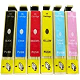 6 Pack T098 / T099 Ink Cartridges for Artisan 700, 710, 725, 800, 810, 835 - BK/ C/ M/ Y/ LC/ LM