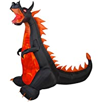 Gemmy Airblown Inflatable 7-ft X 7.5-ft Dragon with Lights and Animation