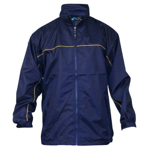 Apparel No. 5 Men's Lightweight Single Piping Windbreaker Jacket,Medium,Navy / Yellow