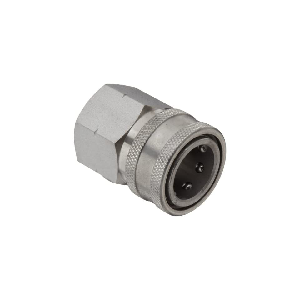Dixon STFC6SS Stainless Steel 303 Hydraulic Quick Connect Fitting, Coupler, 3/4 Female Coupling, 3/4 14 Straight Thread