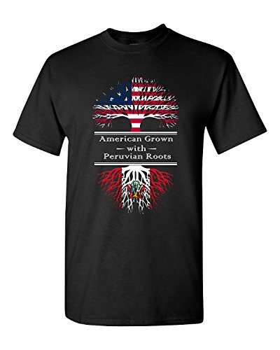American-Grown-With-Peruvian-Roots-Peru-Gift-Adult-Shirt