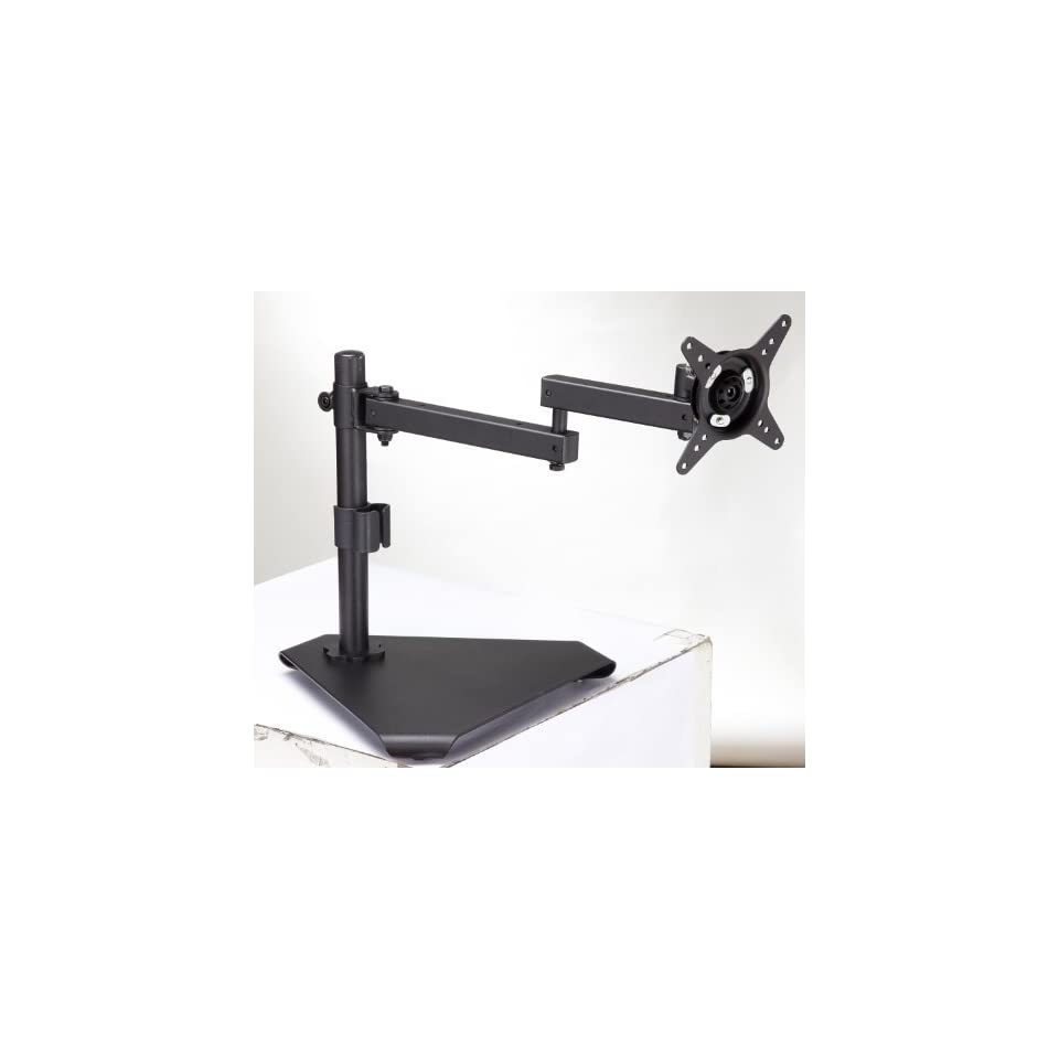 Elitech Aluminum LCD Monitor Desk Mount Stand Fully Adjustable Double Arm