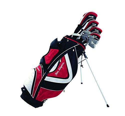 Ben Sayers M15 - Borsa con supporto, per golf, regular, per destrimano, da uomo, rosso/nero