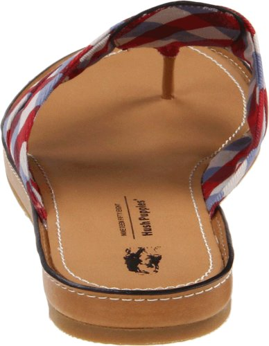 Hush Puppies Women's Notice Thong Sandal,Red/Blue Check,9.5 M US