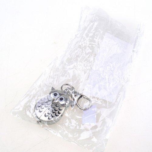 Bestdealusa Silvery Owl Shape Pocket Watch