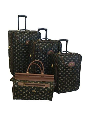 American Flyer 4-Piece Lyon Luggage Set, Black