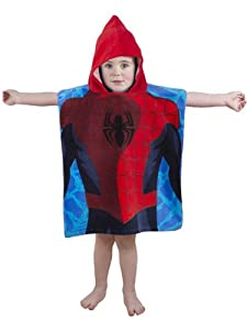 Character World Disney Ultimate Spider Man City Hooded Poncho, Multi-Color