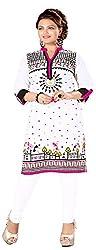 INDIAN FASHION LADY Women's Cotton Kurtas (Ifl-91 , White)