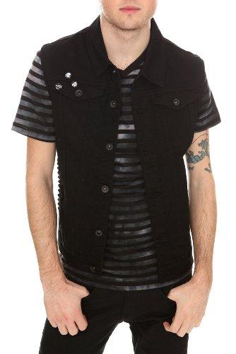 black vest and jeans - photo #22