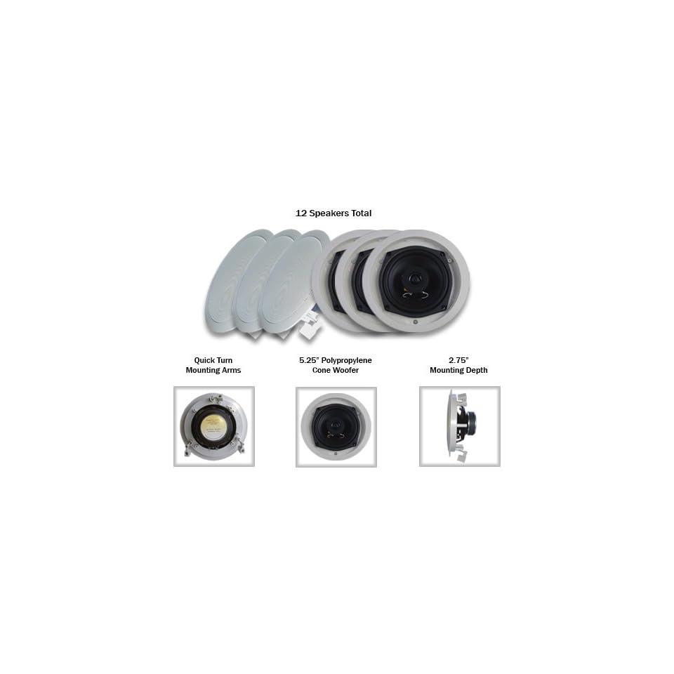 Acoustic Audio R191 12PKG (12) 200 Watt In Wall/Ceiling Home Speakers
