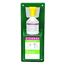 Heathrow Scientific HD1019B Personal Eyewash Station with One 32 ounces Bottle, 167mm Width x 425mm Height x 105mm Depth