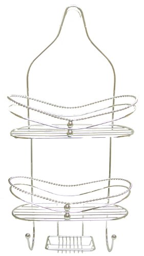 Aquatico Braided Style 2-Tier Shower Caddy, Platinum Price in India ...