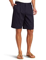 Dockers Men\'s Perfect Short D3 Classic Fit Pleated Short, Marine, 29