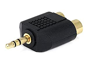 Monoprice 3.5mm Stereo Plug to 2 RCA Jack Splitter Adaptor - Gold Plated