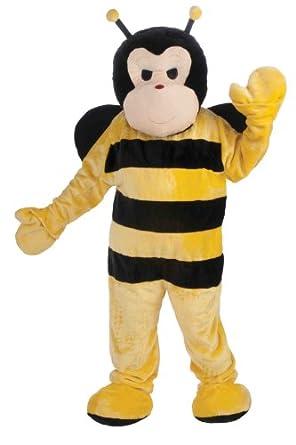 Forum Deluxe Plush Bee Mascot Costume, Yellow, One Size