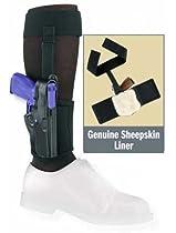 Gould & Goodrich B816-G27LH Gold Line Ankle Holster Plus Garter - Left Hand (Black) Fits GLOCK 26, 27, 33, 39