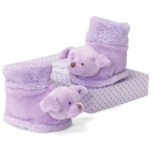 "Gund Plum Dog Booties 3"" Infant Accessory"