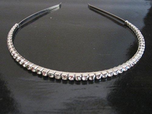 Women's Crystal 1 row Rhinestone Skinny Headband Thin Hair Band Bridal Prom Formal headband Hair Accessories