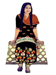 1 Stop Fashion Express your style with this eye catching attire. Black Color Cotton Dress fabric looks Completely Amazing. Black Cotton Bottom and Orange Chiffon dupatta is arranged with this apperal. Accessories shown in the image are for photography purpose. (Slight color variation is possible)